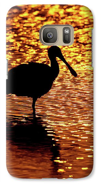 Spoonbill Galaxy S7 Case - Usa, Florida, Vierra Wetlands by Jaynes Gallery