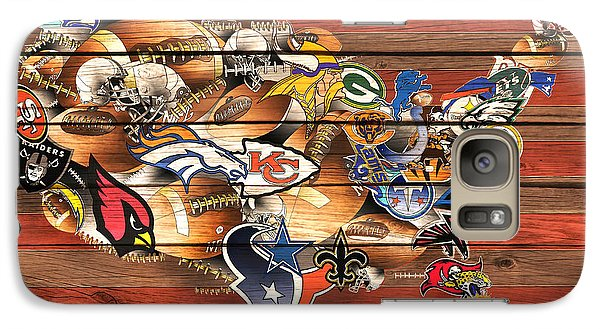Usa Nfl Map Collage 10 Galaxy S7 Case