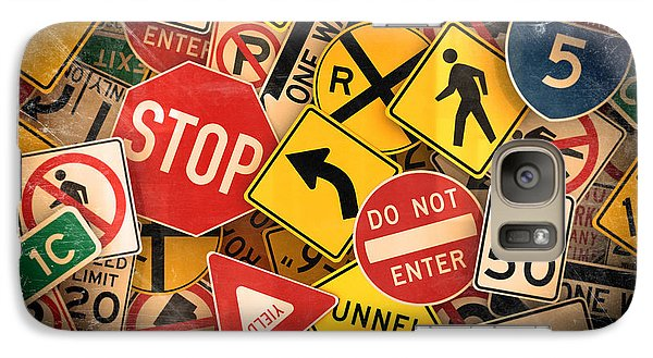 Galaxy Case featuring the photograph Usa Traffic Signs by Carsten Reisinger