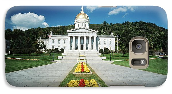 Capitol Building Galaxy S7 Case - Usa, Vermont, Montpelier, Vermont State by Walter Bibikow