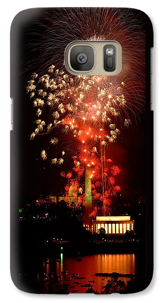 Usa, Washington Dc, Fireworks Galaxy S7 Case by Panoramic Images