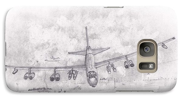 Galaxy Case featuring the drawing Usaf B-52 Stratofortress by Jim Hubbard