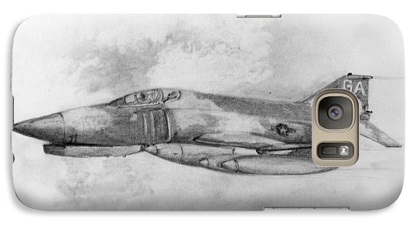 Galaxy Case featuring the drawing Usaf F-4 Phantom by Jim Hubbard