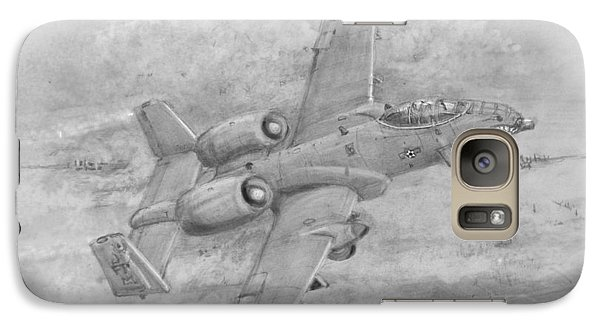 Galaxy Case featuring the drawing Usaf Fairchild-republic  A-10 Warthog by Jim Hubbard