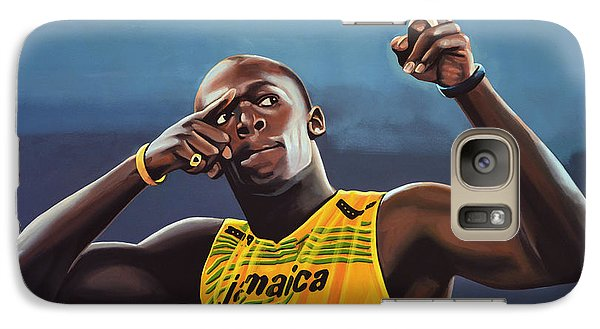 Realistic Galaxy S7 Case - Usain Bolt Painting by Paul Meijering