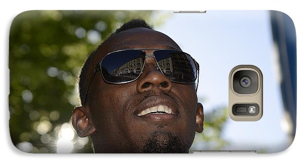 Galaxy Case featuring the photograph Usain Bolt - The Legend 1 by Teo SITCHET-KANDA