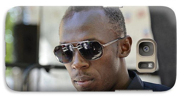 Galaxy Case featuring the photograph Usain Bolt - The Legend 3 by Teo SITCHET-KANDA