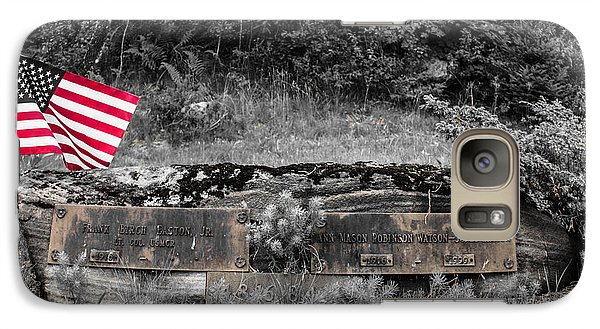 Galaxy Case featuring the photograph Usmc Veteran Headstone by Sherman Perry
