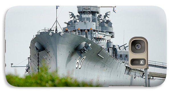 Galaxy Case featuring the photograph Uss Alabama 2 by Susan  McMenamin