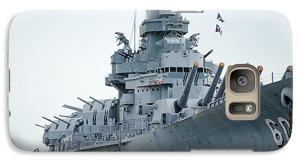 Galaxy Case featuring the photograph Uss Alabama 3 by Susan  McMenamin