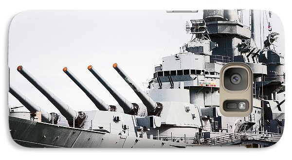 Galaxy Case featuring the photograph Uss Alabama by Susan  McMenamin