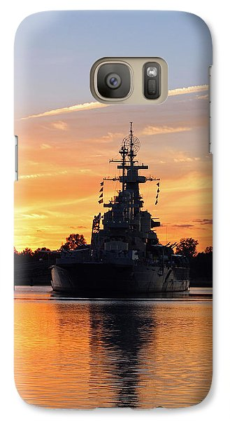 Galaxy Case featuring the photograph Uss Battleship by Cynthia Guinn