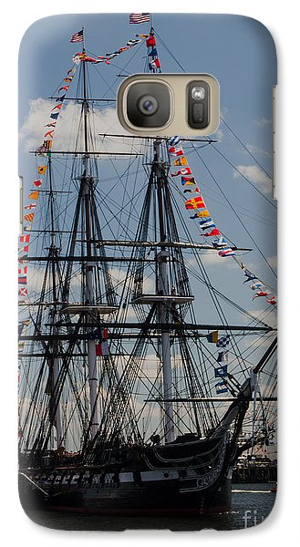 Galaxy Case featuring the photograph Uss Constitution by Mike Ste Marie