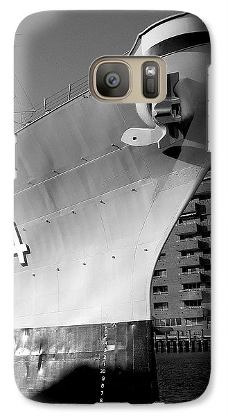 Galaxy Case featuring the photograph U.s.s. Wisconsin by Rebecca Davis
