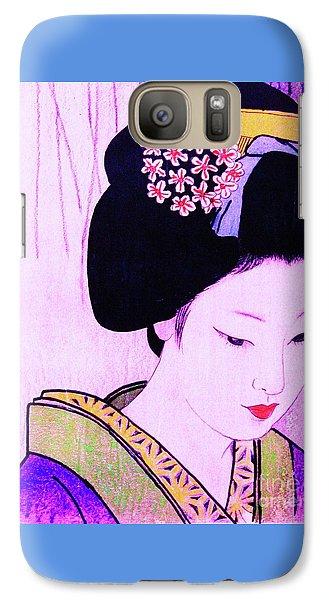 Galaxy Case featuring the painting Utsukushii Josei Ichi by Roberto Prusso