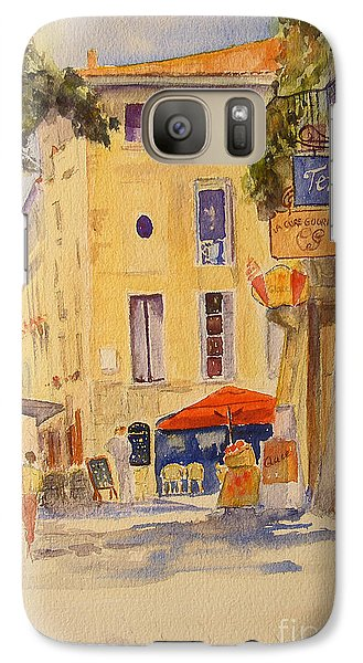 Galaxy Case featuring the painting Uzes France by Beatrice Cloake