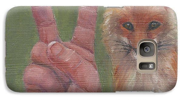 Galaxy Case featuring the painting V Is For Vixen by Jessmyne Stephenson
