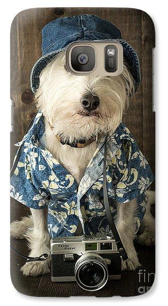 Vacation Dog Galaxy S7 Case by Edward Fielding