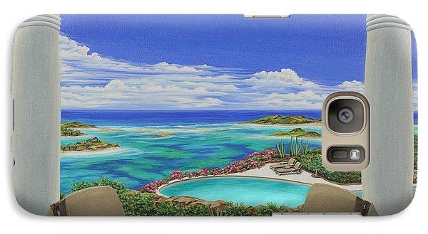 Galaxy Case featuring the painting Vacation View by Jane Girardot