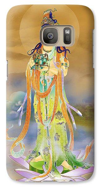 Galaxy Case featuring the photograph Vaidurya  Kuan Yin by Lanjee Chee