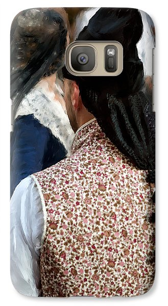 Galaxy Case featuring the photograph Valencian Couple In Traditional Dresses. by Juan Carlos Ferro Duque