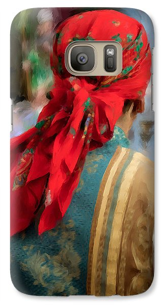 Galaxy Case featuring the photograph Valencian Man In Traditional Dress. Spain by Juan Carlos Ferro Duque