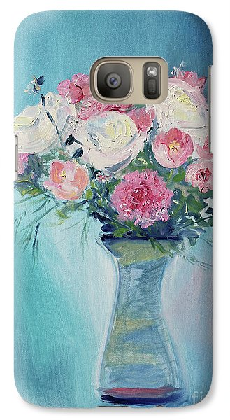 Galaxy Case featuring the painting Valentine Bouquet by Asha Carolyn Young