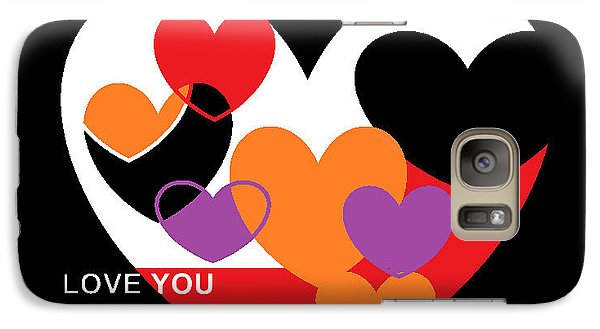 Galaxy Case featuring the digital art Valentine's Day by Andrew Drozdowicz