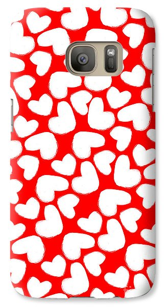 Valentines Day Card Galaxy Case by Louisa Knight