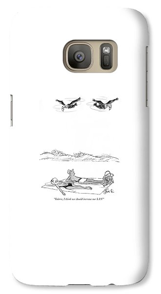 Buzzard Galaxy S7 Case - Valerie, I Think We Should Increase Our S.p.f by Edward Frascino
