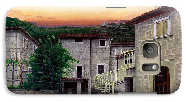 Galaxy Case featuring the painting Vallecchia De Monte Calvo by Albert Puskaric
