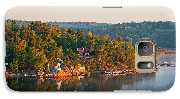 Galaxy Case featuring the photograph Vallersvik Lighthouse Sweden by Marianne Campolongo