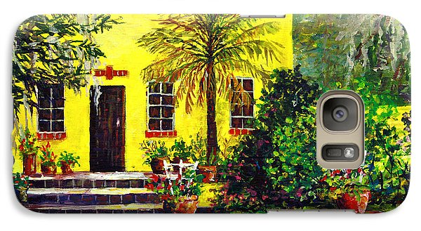 Galaxy Case featuring the painting Vamo Road House by Lou Ann Bagnall