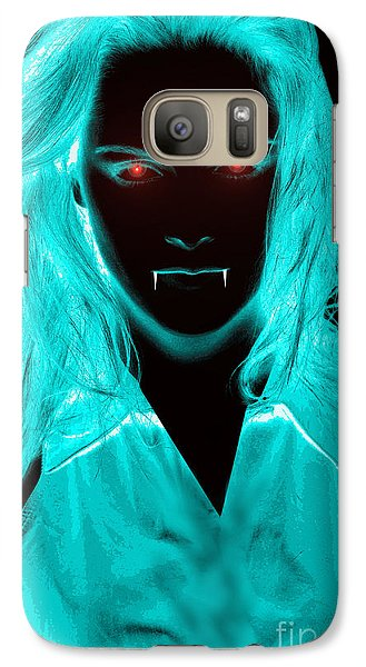 Galaxy Case featuring the digital art Vampirette by Michael Rucker