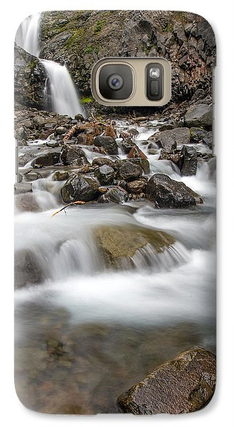 Galaxy Case featuring the photograph Van Trump Falls In Mount Rainier National Park by Bob Noble Photography