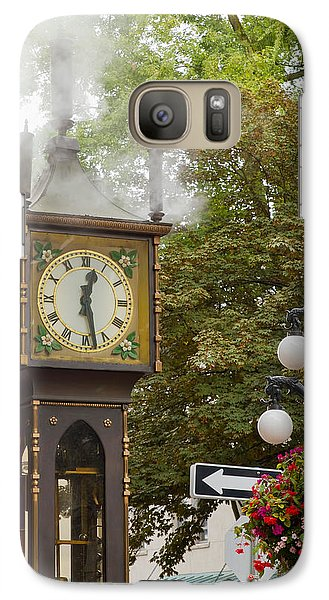 Galaxy Case featuring the photograph Vancouver Bc Historic Gastown Steam Clock by JPLDesigns