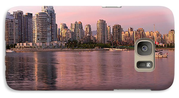 Galaxy Case featuring the photograph Vancouver Bc Skyline Along False Creek At Dusk by JPLDesigns