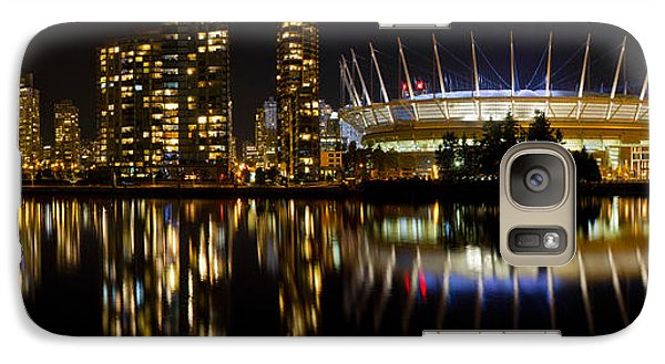 Galaxy Case featuring the photograph Vancouver Bc Skyline Along False Creek At Night by JPLDesigns