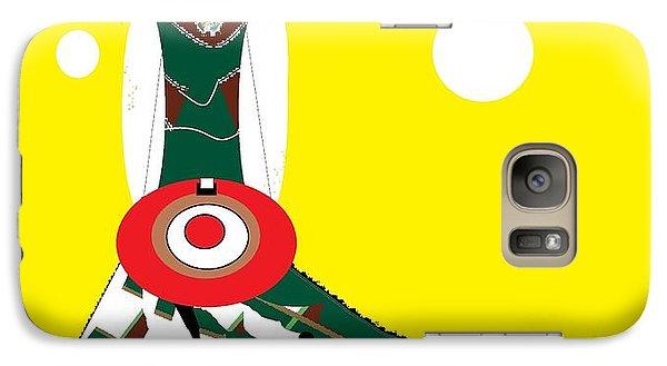 Galaxy Case featuring the digital art Vanguard Girl by Ann Calvo