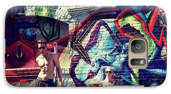 Galaxy Case featuring the photograph Vanilla Ice Graffiti Venice Beach  by Lisa Piper
