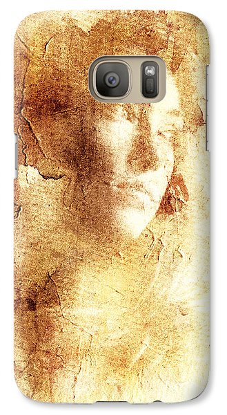Galaxy Case featuring the digital art Vanishing Face by Andrea Barbieri