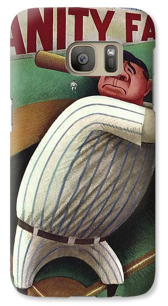Vanity Fair Cover Featuring Babe Ruth Galaxy Case by Miguel Covarrubias