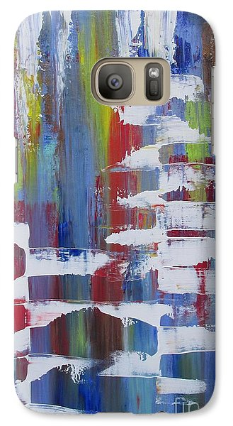 Galaxy Case featuring the painting Vantage Point by Nereida Rodriguez