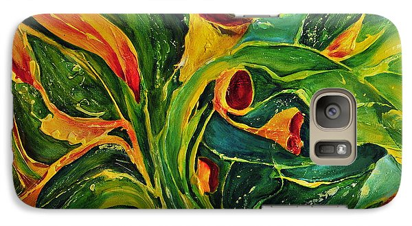 Galaxy Case featuring the painting Variation  No.2 by Teresa Wegrzyn