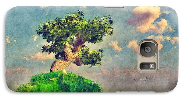 Galaxy Case featuring the digital art Variation On Tree On A Steep Hill... by Tim Fillingim
