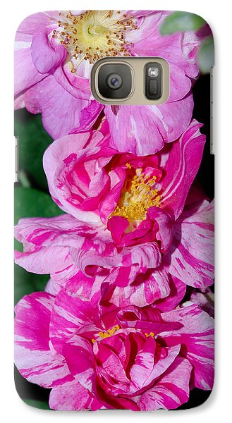 Galaxy Case featuring the photograph Variegated Roses by Adria Trail