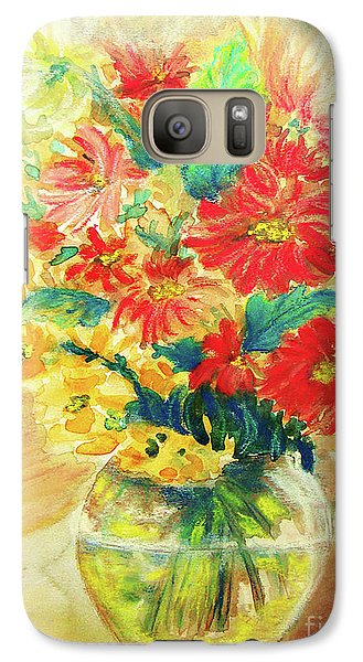 Galaxy Case featuring the painting Vase by Jasna Dragun