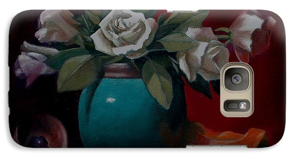 Galaxy Case featuring the painting Vase by Rick Fitzsimons