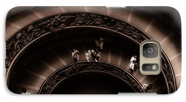 Galaxy Case featuring the photograph Vatican Museum Spiral Staircase by Rob Tullis