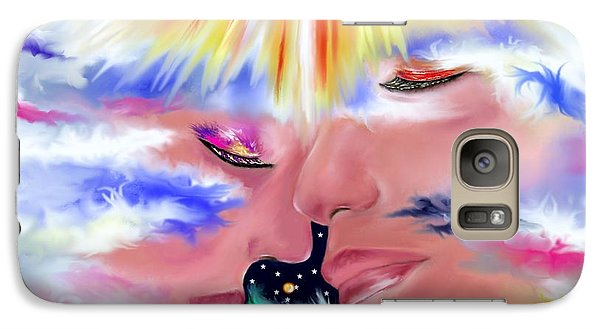 Galaxy Case featuring the drawing Eternal Love by Lori  Lovetere